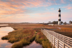 The Lighthouse on the Cape of Hatteras Island
